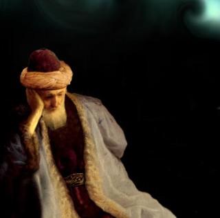 Rumi Meditating