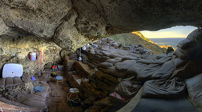 Blombos_Cave_interior,_2010