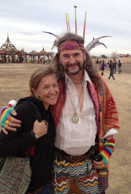 Jen Zariat, founder of Symbiosis, with Dr. Bruce