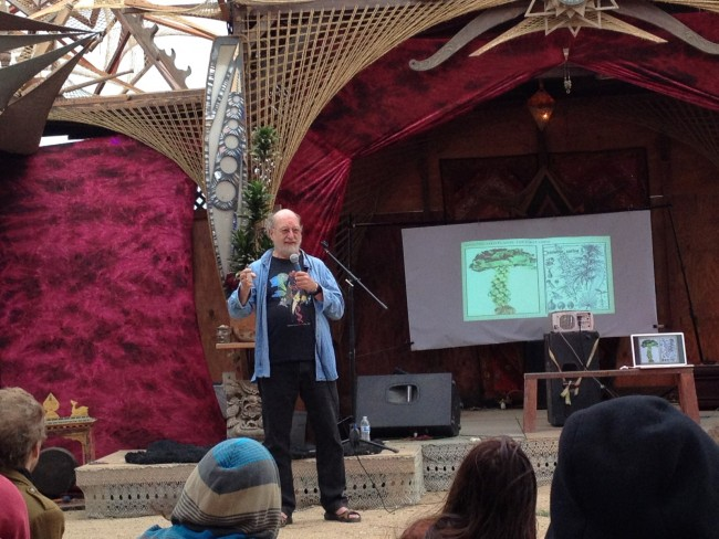 Dennis McKenna presenting at the Pantheon